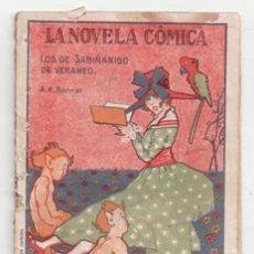 Libros antiguos: LA NOVELA CÓMICA. LOS DE SABIÑANIGO DE VERANEO. A.R. BONNAT. Lote 155554132