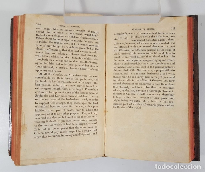 Libros antiguos: HISTORY OF GREECE. THE USE OF SCHOOLS. GOLDSMITH´S. LONDON. 1820. - Foto 2 - 155597006