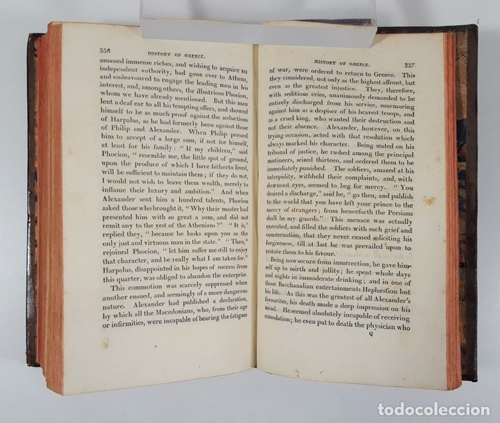 Libros antiguos: HISTORY OF GREECE. THE USE OF SCHOOLS. GOLDSMITH´S. LONDON. 1820. - Foto 3 - 155597006
