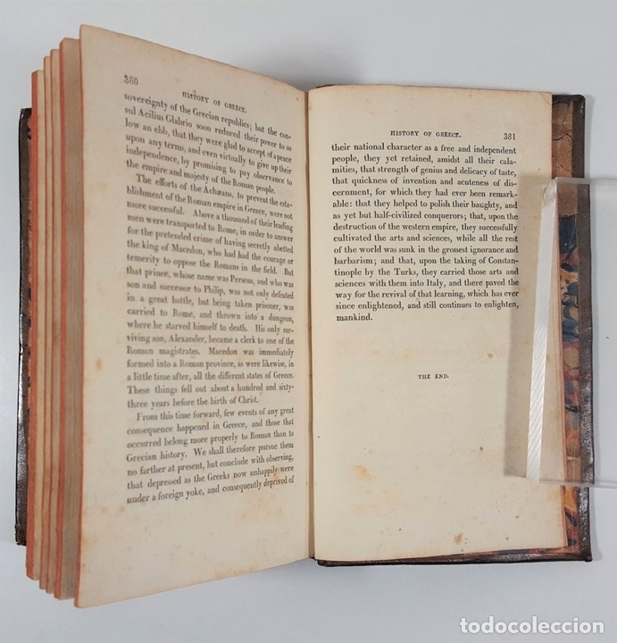 Libros antiguos: HISTORY OF GREECE. THE USE OF SCHOOLS. GOLDSMITH´S. LONDON. 1820. - Foto 4 - 155597006
