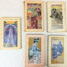 Libros antiguos: 5 TOMOS COLECCIÓN AMBOS MUNDOS. VV. AA. EDITORIAL ATLANTE. GRANADA 1905.. Lote 155610162