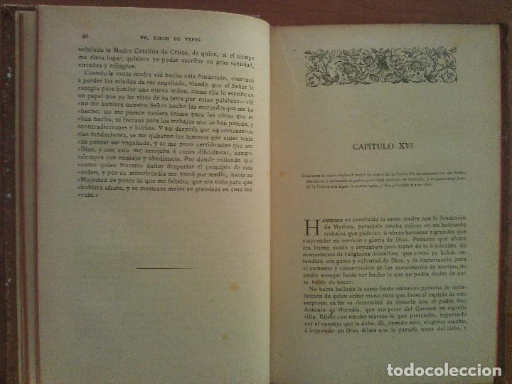 Libros antiguos: 1887 VIDA DE SANTA TERESA DE JESUS - Fº DIEGO DE YEPES TOMO II - Foto 4 - 155615630