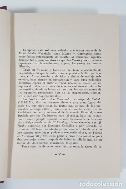 Libros antiguos: MOROS Y CRISTIANOS EN ESPAÑA MEDIEVAL. ÁNGEL GONZÁLEZ PALENCIA. MADRID. 1945. - Foto 3 - 155624094