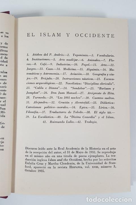 Libros antiguos: MOROS Y CRISTIANOS EN ESPAÑA MEDIEVAL. ÁNGEL GONZÁLEZ PALENCIA. MADRID. 1945. - Foto 4 - 155624094