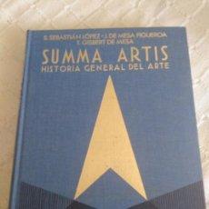 Libros antiguos: SUMMA ARTIS - HISTORIA GENERAL DEL ARTE. Lote 155630708