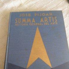 Libros antiguos: SUMMA ARTIS - JOSE ARTIS - HISTORIA GENERAL DEL ARTE. Lote 155630912