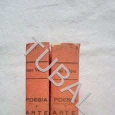 Libros antiguos: TUBAL POESIA Y ARTE DE LOS ARABES EN ESPAÑA JUAN VALERA 2 TOMOS COMPLETISIMO. Lote 155666062