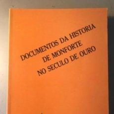 Libros antiguos: LOIS VAZQUEZ FERNÁNDEZ. DOCUMENTOS MONFORTE LUGO GALICIA. Lote 155667230