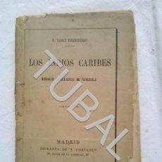 Libros antiguos: TUBAL 1875 LOS INDIOS CARIBES TOMO I. Lote 155668202