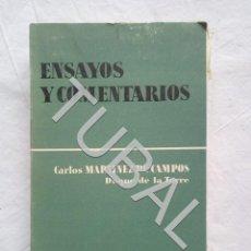 Libros antiguos: TUBAL DUQUE DE LA TORRE ENSAYOS Y COMENTARIOS LIBRO. Lote 155669538