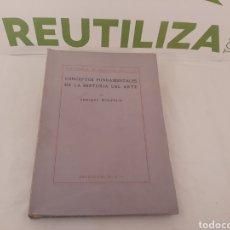 Libros antiguos: CONCEPTOS FUNDAMENTALES DE LA HISTORIA DEL ARTE.ENRIQUE WOLFFLIN.ESPASA CALPE.1936.. Lote 155674881
