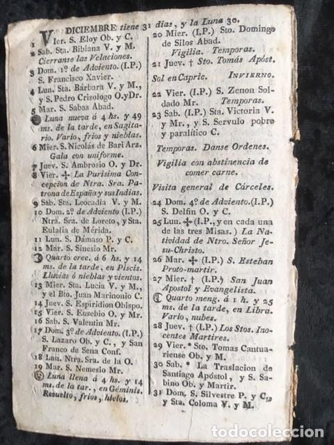 Libros antiguos: CALENDARIO PARA EL PRINCIPADO DE CATALUÑA DEL AÑO BISIESTO DE 1820 - Foto 2 - 155781762
