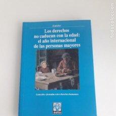 Libros antiguos: ARARTEKO - AÑO INTERNACIONAL DE LAS PERSONAS MAYORES - JORNADAS DERECHOS HUMANOS - 1999. Lote 155788430