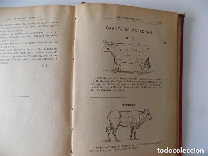 Libros antiguos: LIBRERIA GHOTICA. A. BLANCO PRIETO.LA COCINA UNIVERSAL. 1400 RECETAS SENCILLAS Y PRÁCTICAS.1890 - Foto 5 - 155815466