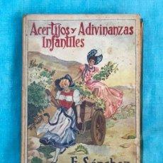 Libros antiguos: ACERTIJOS Y ADIVINANZAS INFANTILES. E. SANCHEZ RUEDA. Lote 155900434