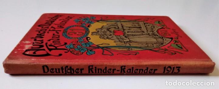 Libros antiguos: 1913 AUERSBACH`S DEUTSCHER KINDER-KALENDAR LIBRO CALENDARIO INFANTIL Nº 31 CON JUEGO CANCIONES C - Foto 3 - 155948310
