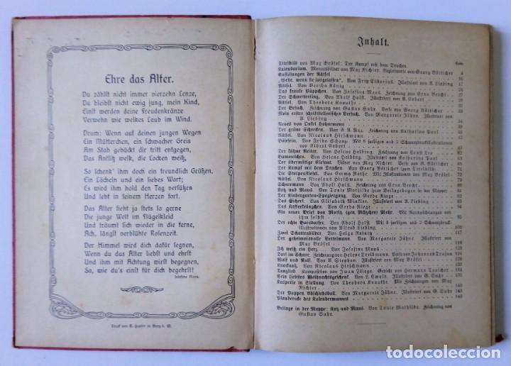 Libros antiguos: 1913 AUERSBACH`S DEUTSCHER KINDER-KALENDAR LIBRO CALENDARIO INFANTIL Nº 31 CON JUEGO CANCIONES C - Foto 5 - 155948310