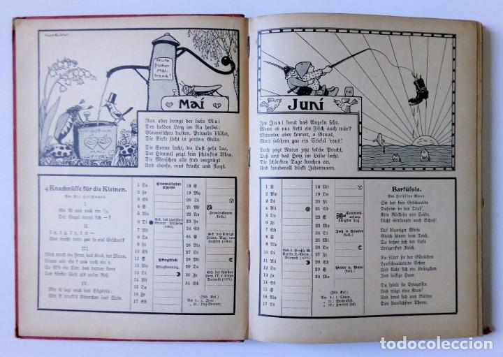 Libros antiguos: 1913 AUERSBACH`S DEUTSCHER KINDER-KALENDAR LIBRO CALENDARIO INFANTIL Nº 31 CON JUEGO CANCIONES C - Foto 6 - 155948310