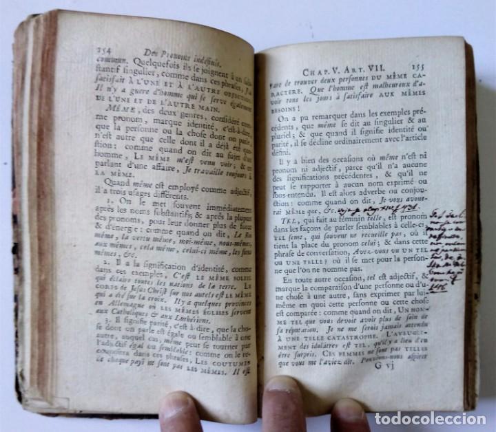Libros antiguos: 1758 Principes généraux et raisonnés de la GRAMMAIRE FRANCOISE de M. RESTAUT. - Gramática francesa - Foto 7 - 155954886