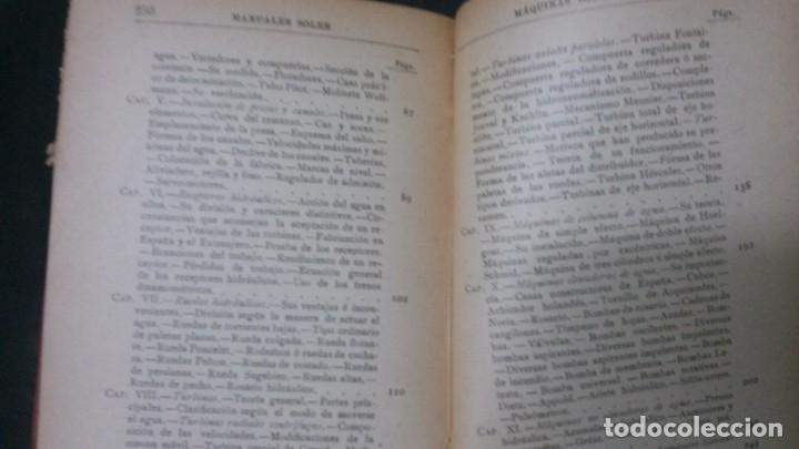 Libros antiguos: MANUALES SOLER-MÁQUINAS E INSTALACIONES HIDRÁULICAS - Foto 4 - 155962866