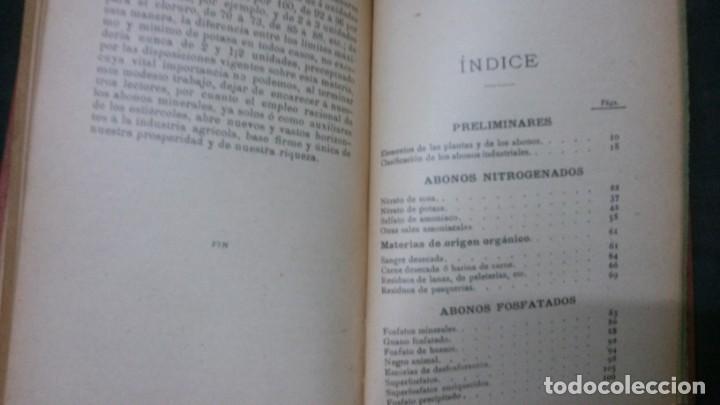 Libros antiguos: MANUALES SOLER-ABONOS INDUSTRIALES - Foto 3 - 155964162