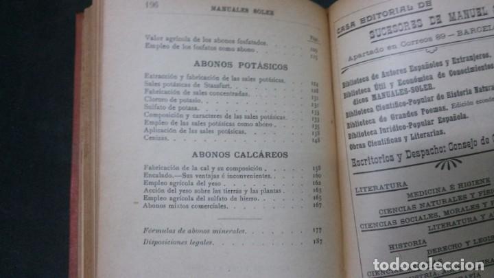 Libros antiguos: MANUALES SOLER-ABONOS INDUSTRIALES - Foto 4 - 155964162