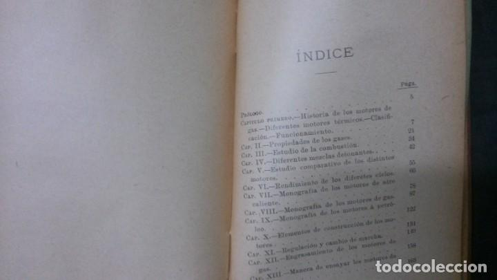 Libros antiguos: MANUALES SOLER-MOTORES DE GAS, PETRÓLEO Y AIRE - Foto 3 - 155964510