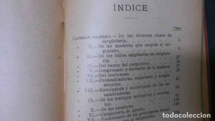 Libros antiguos: MANUALES SOLER-CARPINTERIA PRÁCTICA - Foto 3 - 155971238