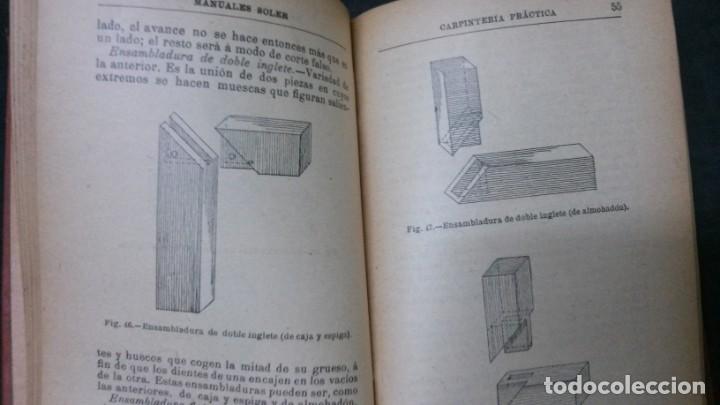 Libros antiguos: MANUALES SOLER-CARPINTERIA PRÁCTICA - Foto 4 - 155971238