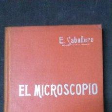 Libros antiguos: MANUALES SOLER-EL MICROSCOPIO. Lote 155971706