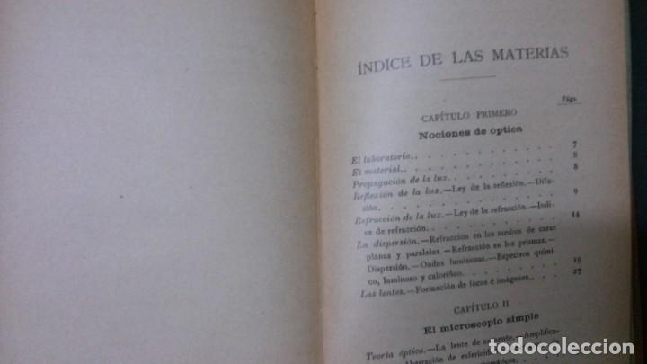 Libros antiguos: MANUALES SOLER-EL MICROSCOPIO - Foto 3 - 155971706