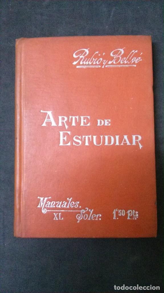 MANUALES SOLER-ARTE DE ESTUDIAR (Libros Antiguos, Raros y Curiosos - Ciencias, Manuales y Oficios - Otros)