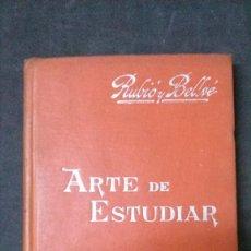 Libros antiguos: MANUALES SOLER-ARTE DE ESTUDIAR. Lote 155972442