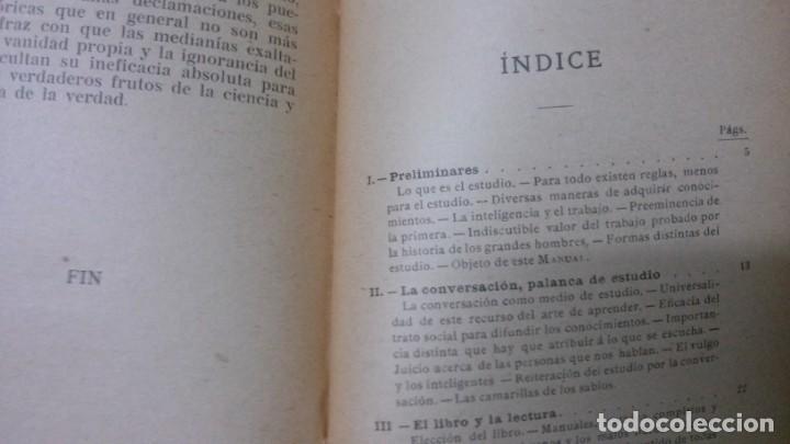 Libros antiguos: MANUALES SOLER-ARTE DE ESTUDIAR - Foto 3 - 155972442