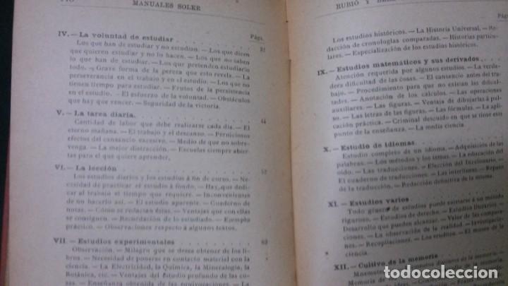 Libros antiguos: MANUALES SOLER-ARTE DE ESTUDIAR - Foto 4 - 155972442