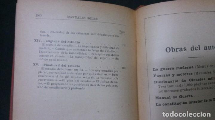 Libros antiguos: MANUALES SOLER-ARTE DE ESTUDIAR - Foto 5 - 155972442