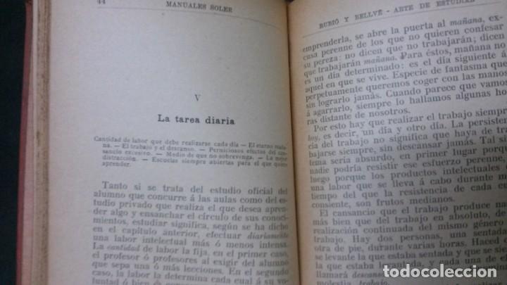 Libros antiguos: MANUALES SOLER-ARTE DE ESTUDIAR - Foto 6 - 155972442