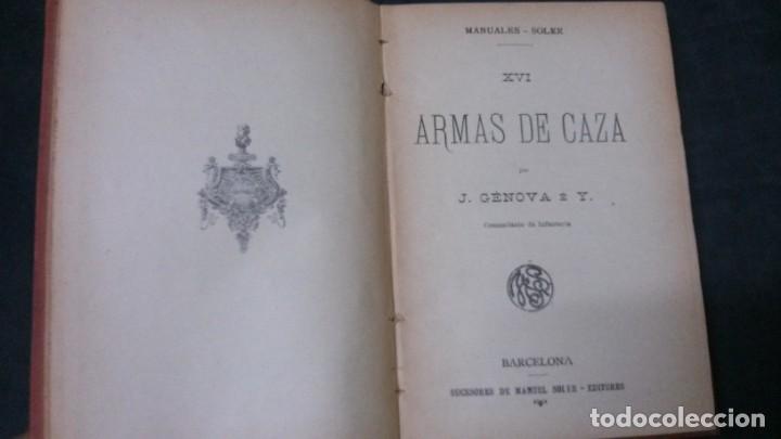 Libros antiguos: MANUALES SOLER-ARMAS DE CAZA - Foto 2 - 155974214
