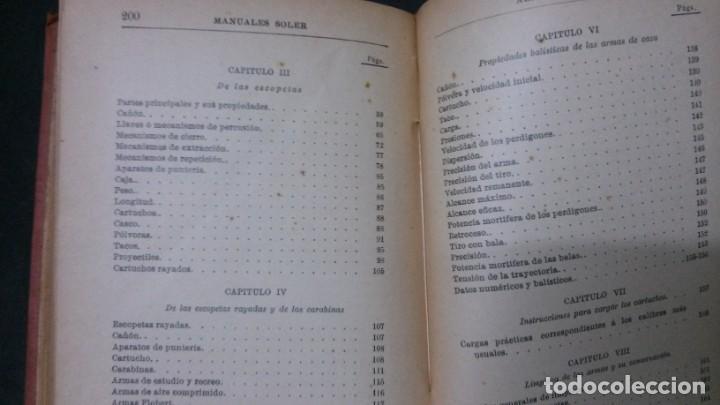 Libros antiguos: MANUALES SOLER-ARMAS DE CAZA - Foto 4 - 155974214