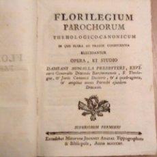 Libros antiguos: SUMALLA, DAMIANI - FLORILEGIUM PAROCHORUM THEHOLOGICO-CANONICUM - MATARO AÑO 1815 PERGAMINO. Lote 155991734
