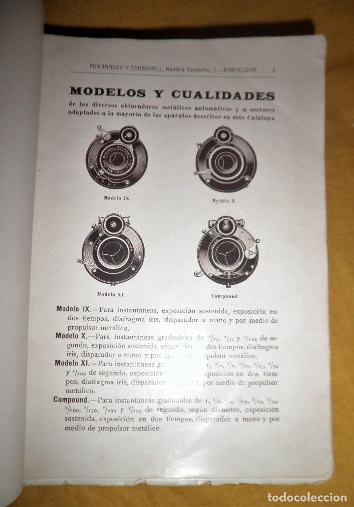 Libros antiguos: ANTIGUO CATALOGO DE APARATOS DE FOTOGRAFIA COSMOS FOTOGRAFICO - AÑO 1910 - MUY ILUSTRADO. - Foto 3 - 155998786