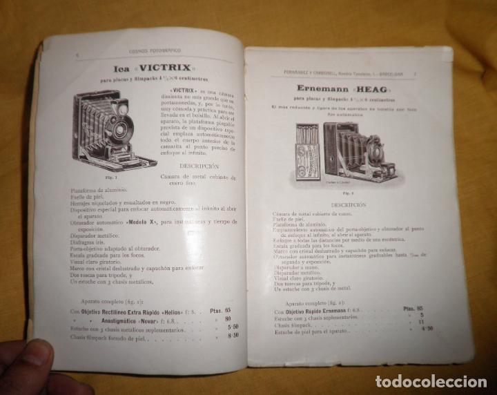 Libros antiguos: ANTIGUO CATALOGO DE APARATOS DE FOTOGRAFIA COSMOS FOTOGRAFICO - AÑO 1910 - MUY ILUSTRADO. - Foto 4 - 155998786