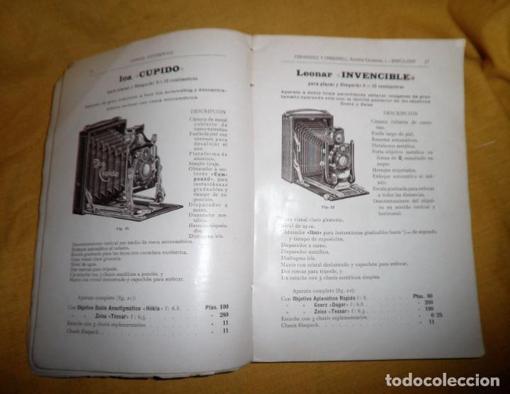 Libros antiguos: ANTIGUO CATALOGO DE APARATOS DE FOTOGRAFIA COSMOS FOTOGRAFICO - AÑO 1910 - MUY ILUSTRADO. - Foto 5 - 155998786