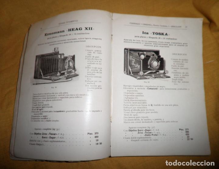 Libros antiguos: ANTIGUO CATALOGO DE APARATOS DE FOTOGRAFIA COSMOS FOTOGRAFICO - AÑO 1910 - MUY ILUSTRADO. - Foto 6 - 155998786