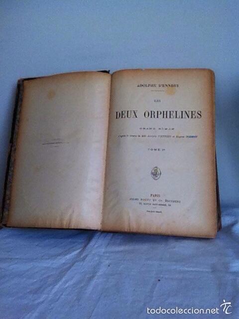Libros antiguos: LES DEUX ORPHALINES. 1874. A.DENNER - Foto 3 - 156202162