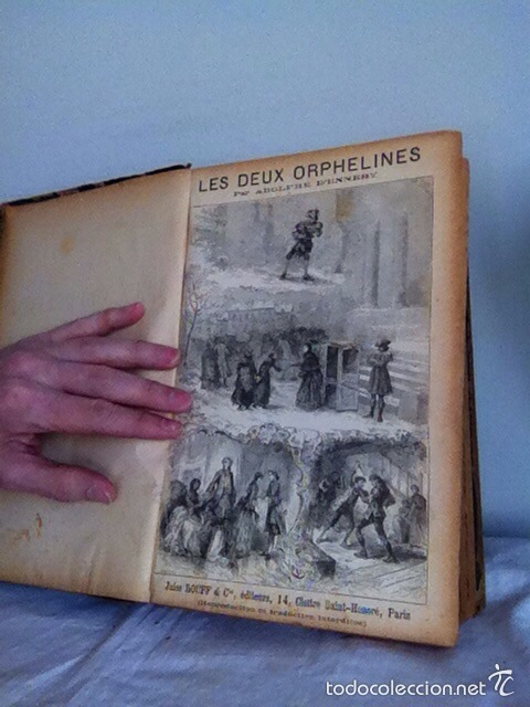 Libros antiguos: LES DEUX ORPHALINES. 1874. A.DENNER - Foto 4 - 156202162