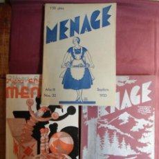 Libros antiguos: MENAGE.Nº29-32-36 DE 1933 Y 1934.REVISTA DEL ARTE EN LA CASA-COCINA Y PASTELERIA MODERNA.. Lote 156231066