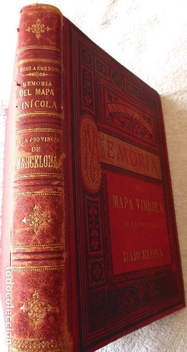 Libros antiguos: L-5306. MEMORIA DEL MAPA REGIONAL VINÍCOLA PROVINCIA DE BARCELONA. AÑO 1890. BILINGÜE. - Foto 2 - 156410098