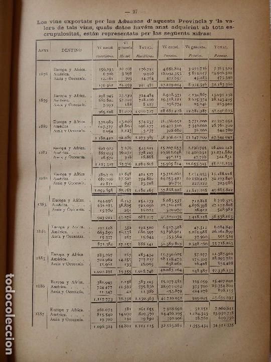Libros antiguos: L-5306. MEMORIA DEL MAPA REGIONAL VINÍCOLA PROVINCIA DE BARCELONA. AÑO 1890. BILINGÜE. - Foto 4 - 156410098