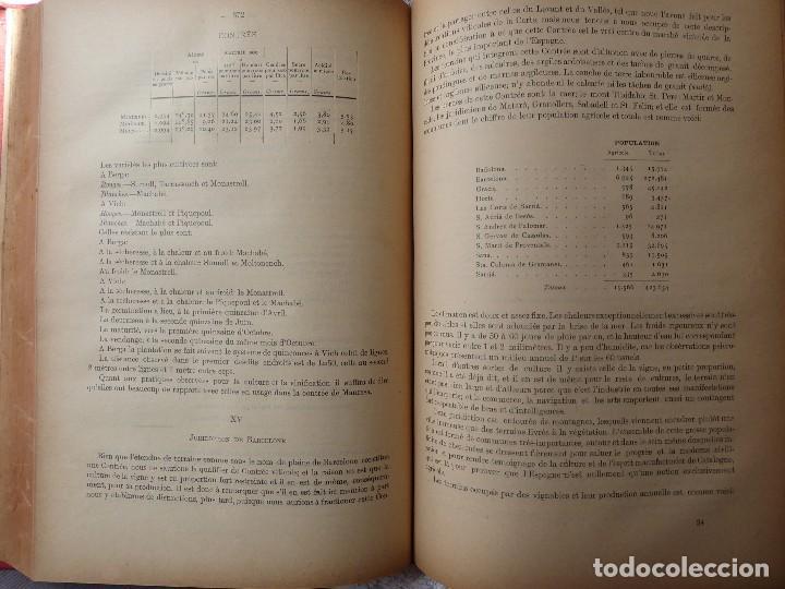 Libros antiguos: L-5306. MEMORIA DEL MAPA REGIONAL VINÍCOLA PROVINCIA DE BARCELONA. AÑO 1890. BILINGÜE. - Foto 7 - 156410098